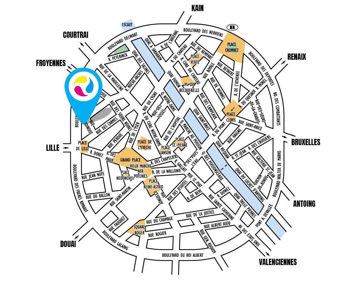 carte tournai localisation kiprint